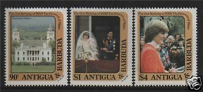 Antigua 1982 Diana's 21st Birthday SG748/50 MNH