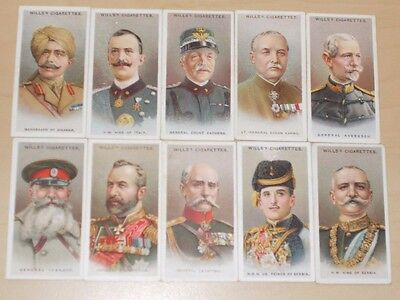 cigarette cards WILLS ALLIED ARMY LEADERS LOT B