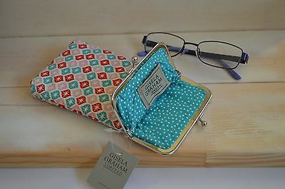 Gisela Graham Fabric Pink Red  Glasses Case/ Ideal Gift