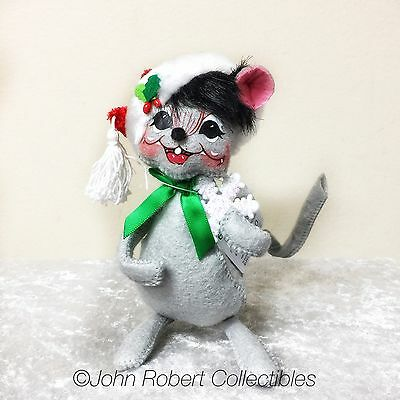 Annalee Dolls Christmas White Christmas Mouse 6 Inch