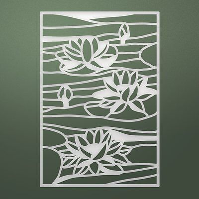 "Ultimate Crafts Stained Glass Die-Lily Pond, 2.3""X3.3"""