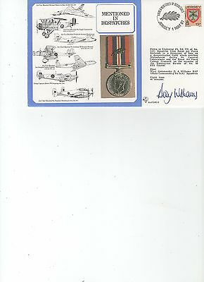 1987  R.A.F. - DM 16 - MENTIONED in DISPATCHES - FLOWN - PILOT SIGNED