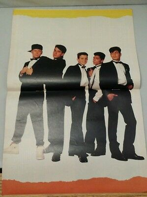 Rare VINTAGE 1990s NEW KIDS ON THE BLOCK Fold-Out double page Colour POSTER