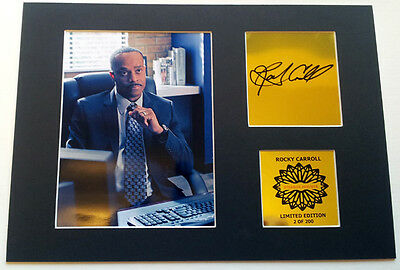 Rocky Carroll  Leon  NCIS  mounted quality signed 12 x  8 in limited edition