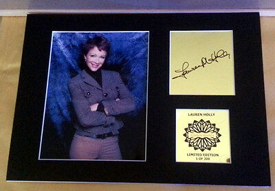 Lauren Holly jenny Shepard  NCIS  mounted quality signed 12 x  8 in lim edition