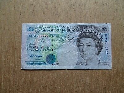 BANK OF England 5 Pounds - billet GREAT BRITAIN
