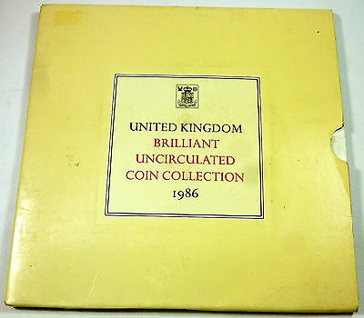 1986 United Kingdom / Great Britain Royal Mint Brilliant Uncirculated Mint Set