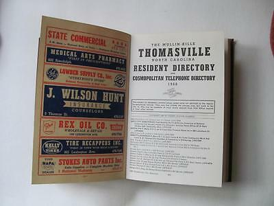 Vtg 1966 THOMASVILLE NC Residential Street City Directory Business Ads Genealogy