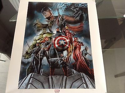 Sideshow Marvel Avengers Print Signed by Adi Granov - Limited Edition 350 - New