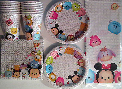 TSUM TSUM Disney Birthday Party Supply Kit Pack Set for 16 w/ Balloons