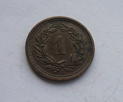 Switzerland, Rappen 1919B, in Great Condition.