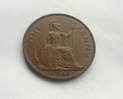 1948 Penny, George V. in Good Condition.