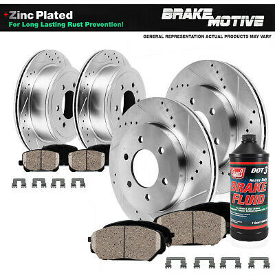 Front+Rear Rotors + Ceramic Pads For 2010 2011- 2016 Toyota 4Runner Lexus GX460