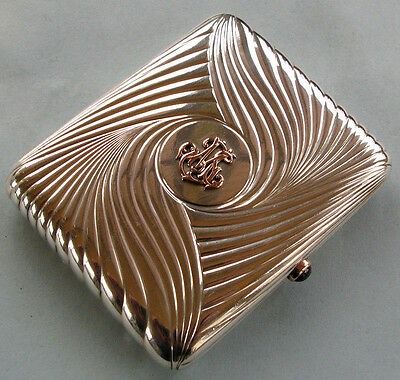 Fine by Faberge Imperial Russian Silver Gold Cigarette Case by Anders Nevalainen