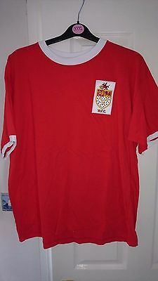 WREXHAM Non League Retro Replica Red Football T Shirt XXL Men's Soccer Jersey