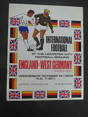 England Under 23's V West Germany 1970 at Leicester City
