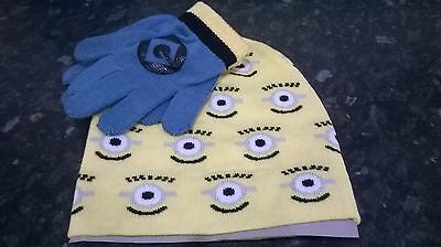 Marvel Comics, Children Despicable Me Knit Beanie Hat and Glove Set BNWT RRP £18