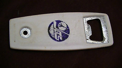 Vintage Winnipeg jets hockey bottle opener 1970s