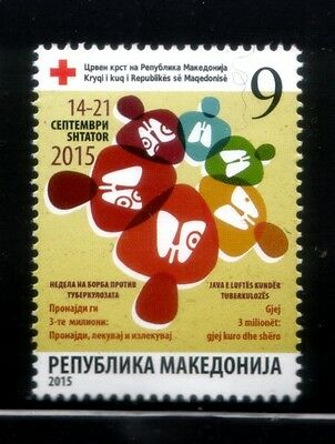 MACEDONIA Fight Against Tuberculosis RED CROSS MNH stamp