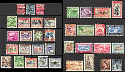 SAMOA 1935-52 Pictorial issues almost complete M, SG 177//230 cat £57
