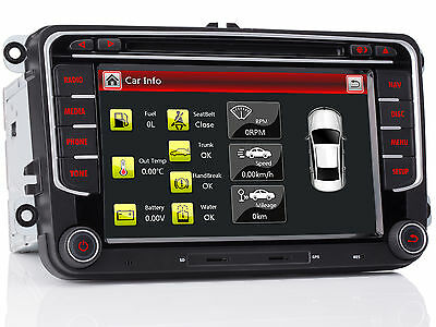 "NEU 7""GPS Navi Autoradio Navigation Canbus FüR VW Golf V VI Caddy Skoda Sharan"