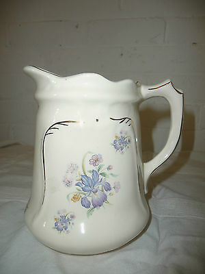 Very Pretty Shabby Chic Cream Floral Jug Perfect For Flowers!
