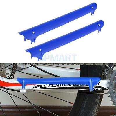Cycling Gear MTB Bike Bicycle Chain Stay Protector Guard Soft Cover Blue