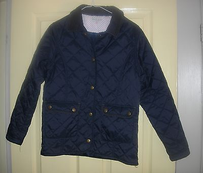 Marks & Spencer Indigo Girls  navy quilted jacket  11 /12 Yrs  Great For School