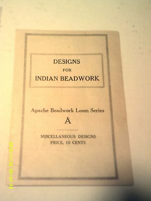 Apache Beadwork  Loom  Instructions Design Booklet