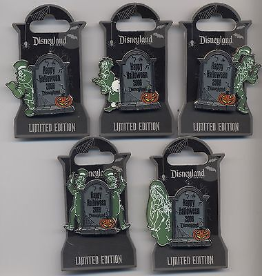 Haunted Mansion HAPPY HALLOWEEN 2008 Disney Pins Hitchhiking Ghosts LE 1000