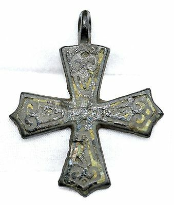 RARE AUTHENTIC VIKING SCANDINAVIAN CROSS WITH NIPPO INSERT (incl COA) - QR65
