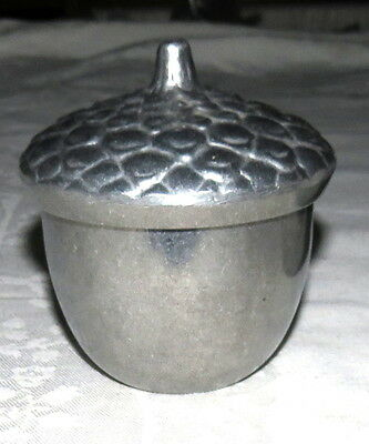 Longaberger Pewter Acorn Candle Holder with Candle Nut Candy Lidded Dish NEW