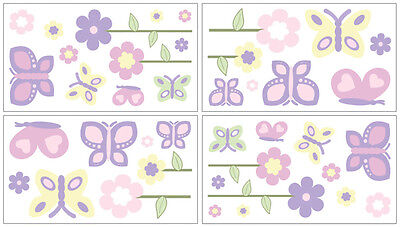 Sweet Jojo Designs Butterfly Baby Bedding Decal Sticker Kid Wall Art Room Decor
