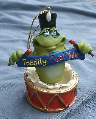 Toad Yule Ornament by Russ,Artist Doug Harris,drummer -says Toadily Cool Yule