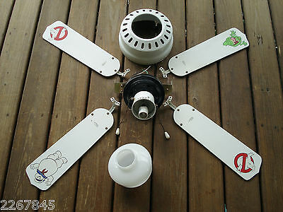 RARE VTG Original GHOSTBUSTERS Movie Ceiling Fan Light Fixture Stay Puft Slimer