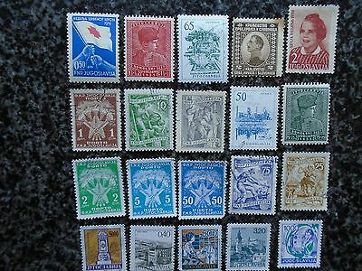 Collection/mixture Of Yugoslavia Definitive Stamps