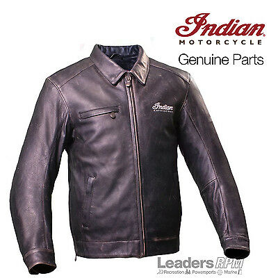Indian Motorcycle New OEM Mens Classic Jacket Large Brown 286330006