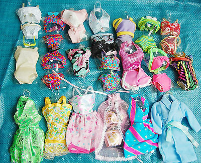 25   P   〓 (10 clothes+10 shoes + 5 hangers) for Barbie Doll red865