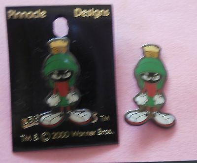 Marvin the Martian Lapel Pin Looney Tunes WB Tunes New on Card