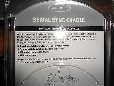 Belkin PALM M100 SERIES SERIAL SYNC CRADLE F8E460-4.5  SEALED