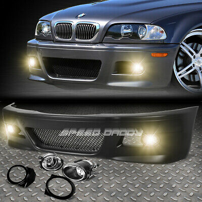 For 99-06 E46 3Series Non-M M3 Style Replacement Front Bumper Body Kit+Fog Light