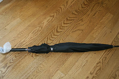 MontBlanc Parfums Mens Umbrella Large Huge Black Auto Open/Close NEW