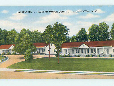 Unused Linen MIMOSATEL MOTEL Morganton North Carolina NC M5692-22