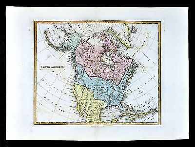 1839 Allan Bell Map - North America United States Canada Mexico California Texas