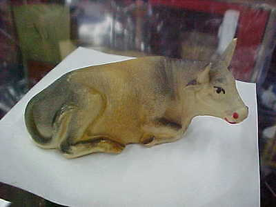 Vintage Celluloid Animals-----Cow Reclining