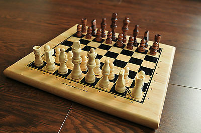 Wooden Chess Set, Solid Board and Figures, NEW and Boxed