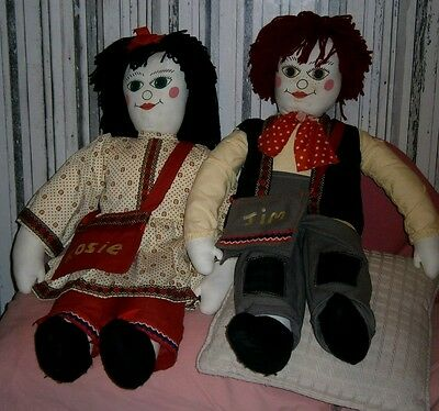 Giant Rosie And Jim Rag Dolls