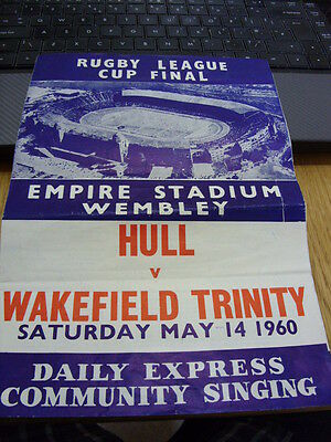 Community Song Sheet from Empire Stadium WEMBLEY-Hull v Wakefield Rugby Final