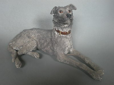 Border Fine Arts Rare Hand Crafted Lurcher Dog Lying Down Dg 35A.