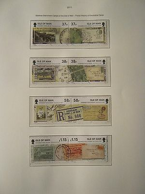 IOM UNMOUNTED MINT 2011 WARTIME INTERNMENT CAMPS POSTAL HISTORY FACE £4..80p